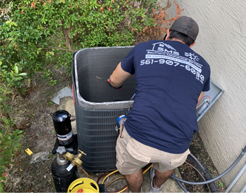 replacing a compressor