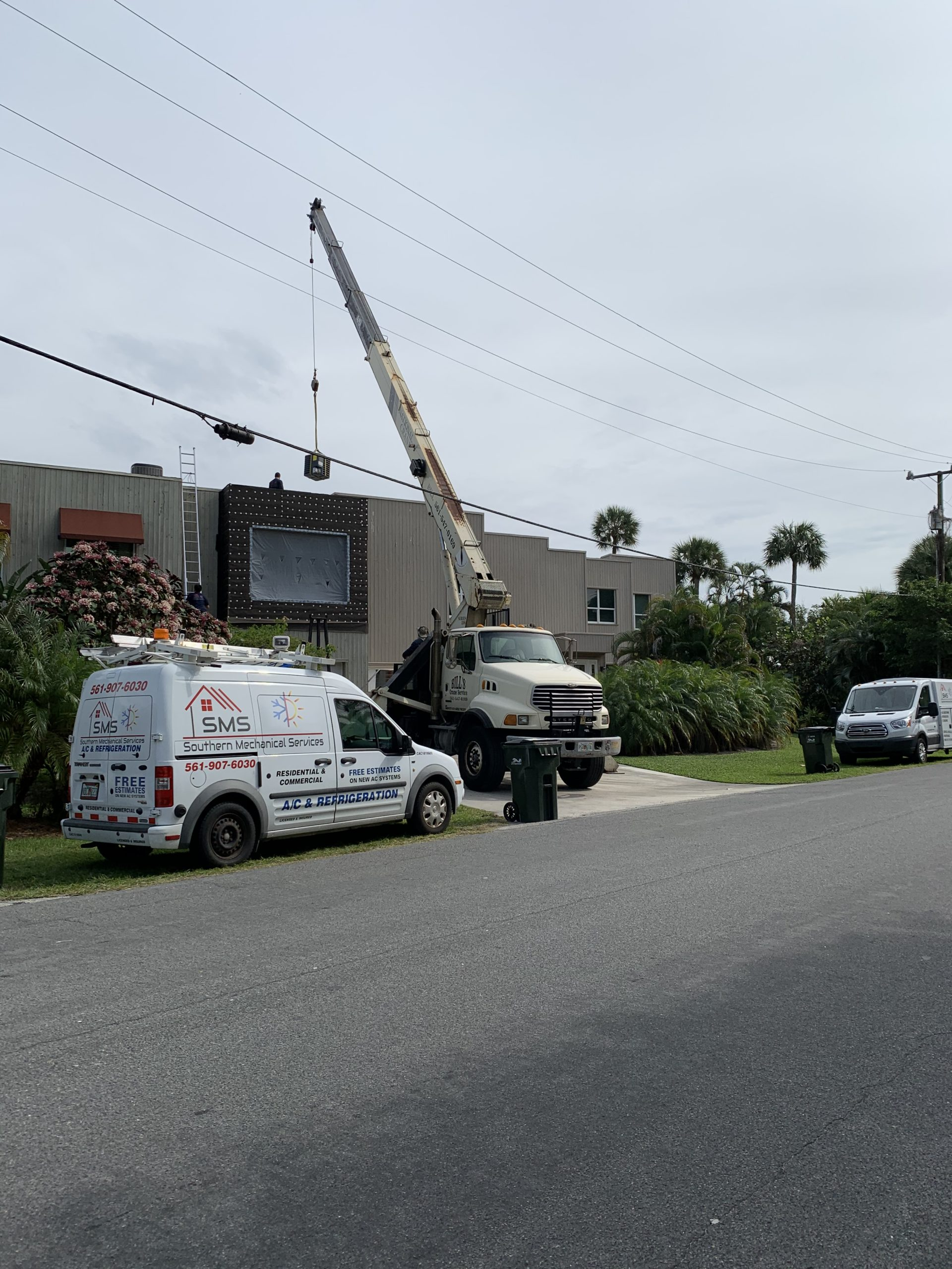 replacing ac system with crane in delray